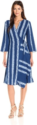 BCBGMAXAZRIA Azria Women's Jacklyn Woven Wrap Dress