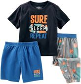 Osh Kosh Boys 4-12 Graphic 3-Piece Pajama Set