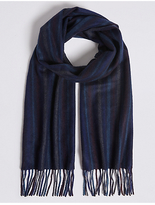 M&S Collection Pinstripe Pure Cashmere Woven Scarf