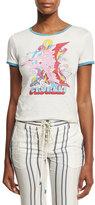 Roberto Cavalli Retro-Print Crewneck Tee, White