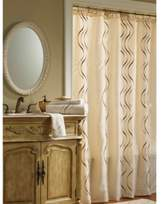 Croscill Dante 54-Inch x 78-Inch Stall Fabric Shower Curtain in Champagne