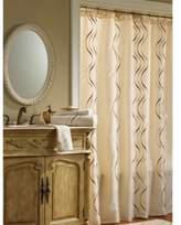 Croscill Dante 72-Inch x 84-Inch Fabric Shower Curtain in Champagne