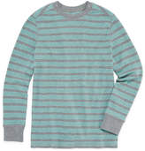 Arizona Long Sleeve Stripe Thermal Top - Big Kid Boys