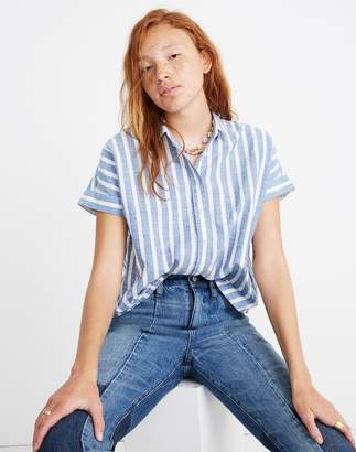 Madewell Cropped Button-Down Shirt in Stripe