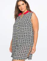 ELOQUII Sleeveless Shirt Dress Cover Up