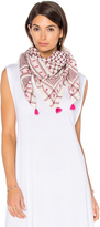 Maison Scotch Embroidered Jacquard Scarf