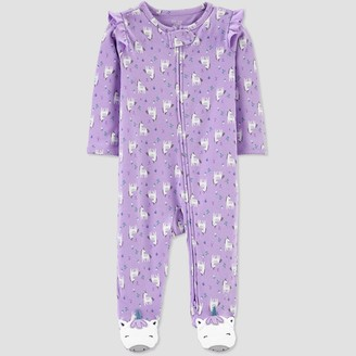 Carter's Baby Girls' Unicorn All Over Print 1pc Pajama - Just One You® made by Lilac