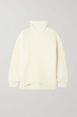 Anine Bing - Sydney Ribbed-knit Turtleneck Sweater - Ivory