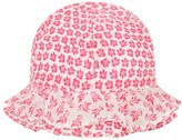 Absorba Baby Girls White & Fuchsia Floral Hat