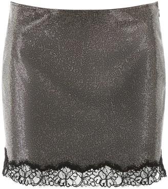 Philosophy di Lorenzo Serafini Rhinestones Lace Hem Skirt
