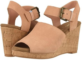 Toms Tropez (Coral Pink Suede) Women's Wedge Shoes