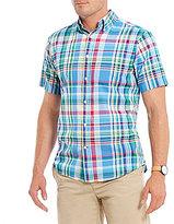 Daniel Cremieux Madras Plaid Short-Sleeve Woven Shirt