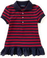 Ralph Lauren Big Girls 7-16 Striped Mesh Peplum Polo Shirt