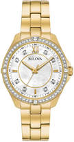 Bulova Women's Gold-Tone Stainless Steel Bracelet Watch 35mm 98L230, A Macy's Exclusive Style