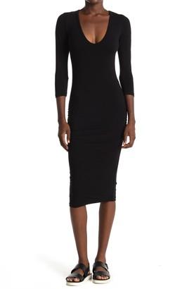 James Perse V-Neck Bodycon Dress