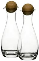 Sagaform Oil and Vinegar Bottles with Oak Wood Stoppers, Set of 2