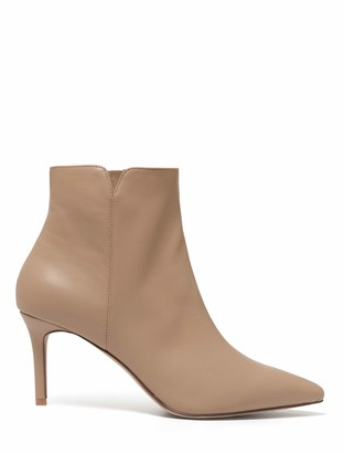 Forever New Blair Pointed Mid Heel Boots - Nude - 36