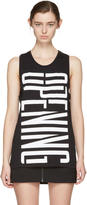 Opening Ceremony Black Stretch Logo Tank Top