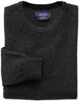 Charles Tyrwhitt Charcoal Merino Cotton Crew Neck Wool Sweater Size Large