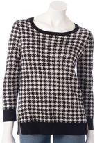 Apt. 9 houndstooth lurex sweater - women's