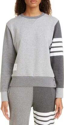 Thom Browne Four-Bar Cotton Sweatshirt