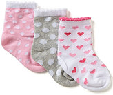 Starting Out Baby Girls 3-Pack Multi Patterned Crew Socks