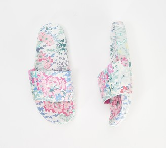 Joules Printed Pool Slide Sandals- Poolside