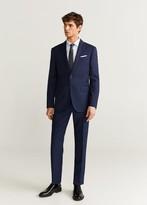 MANGO Slim fit virgin wool suit trousers