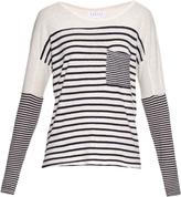 Velvet by Graham & Spencer Ario striped jersey T-shirt