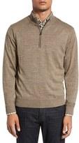 Cutter & Buck Men's Big & Tall 'Douglas' Quarter Zip Wool Blend Sweater
