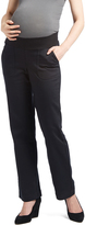 Black Under-Belly Twill Maternity Pants