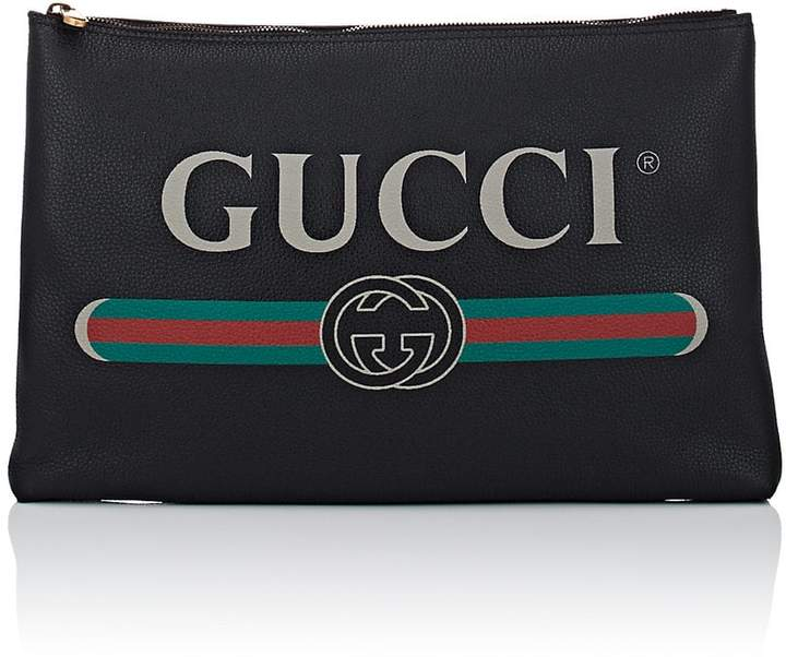 Gucci Men's Large Leather Pouch