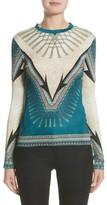 Versace Women's Scarf Print Jersey Tee
