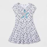Cat & Jack Girls' Star Print Dress - Cat & Jack White