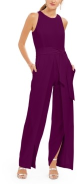 INC International Concepts Inc Belted Flyaway-Leg Jumpsuit, Created for Macy's