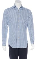 Kiton Plaid Woven Button-Up Shirt