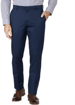 The Tie BarThe Tie Bar Classic Navy Stretch Cotton Pants