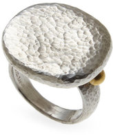 Gurhan Sterling Silver & 24K Gold Ring