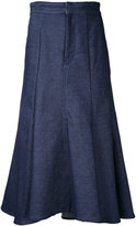 Le Ciel Bleu low flare denim skirt - women - Cotton - 36
