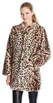Via Spiga Women's Leopard Faux Fur Jacket