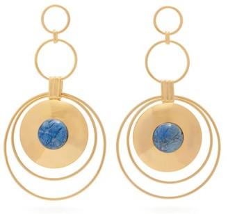 Joelle Kharrat - Chapiteau Gold-plated Drop Earrings - Blue