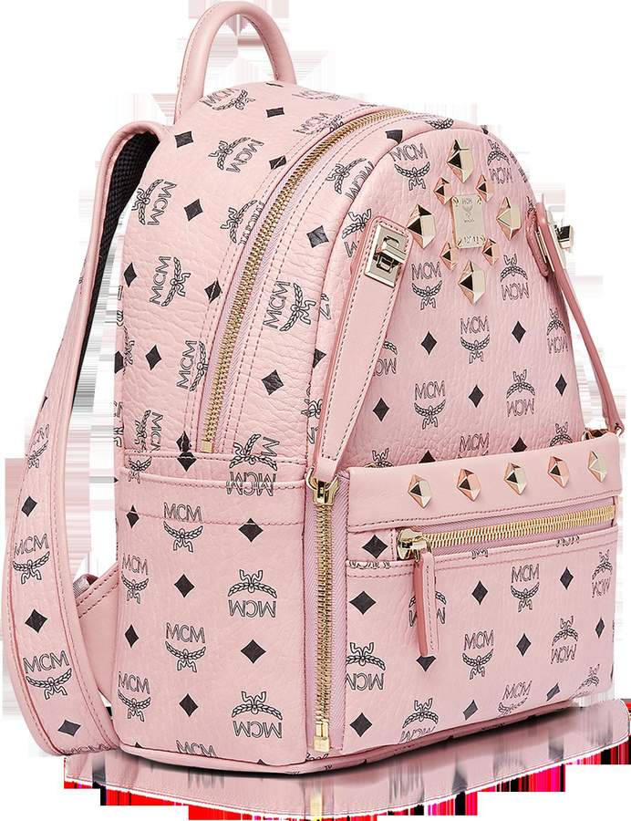 MCM Dual Stark Small Soft Pink Backpack