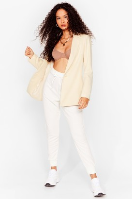 Nasty Gal Womens There Chances Are Slim High-Waisted Joggers - Cream - 10