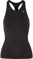 Lucas Hugh Technical Knit Stardust Metallic Striped Stretch Tank - Black