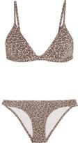 Zimmermann Pavilion Metallic Leopard Cloqué Triangle Bikini - Gray