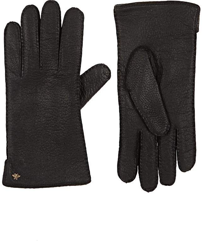 Gucci Men's Grained Leather Gloves