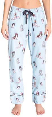 PJ Salvage Chelsea Separates Dogs Flannel Pyjama Pants