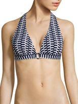 Shoshanna Zigzag Ring Halter Bikini Top