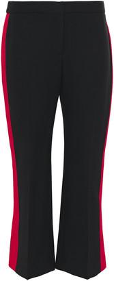 Alexander McQueen Striped Wool-blend Crepe Kick-flare Pants