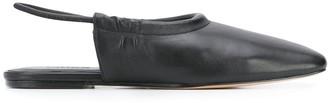 Vince square toe flat mules